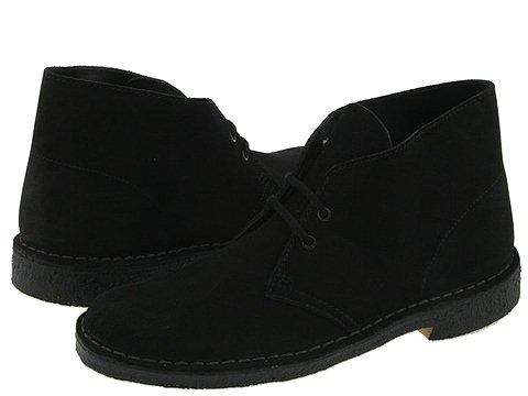 Ghete Clarks - Desert Boot - Black Suede