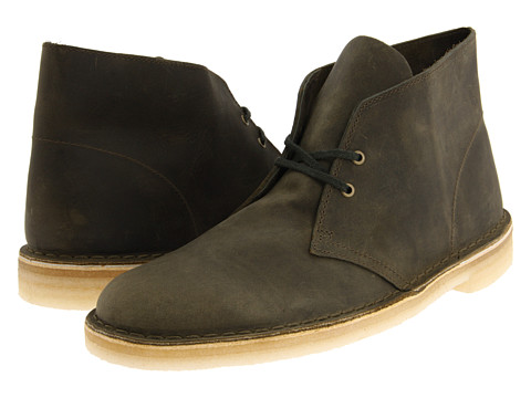 Ghete Clarks - Desert Boot - Olive Leather