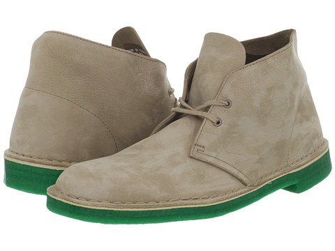 Ghete Clarks - Desert Boot - Sand Nubuck/Green Sole