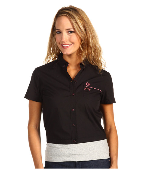 Tricouri Fred Perry - Amy Winehouse Collection Solid Bowling Shirt - Black