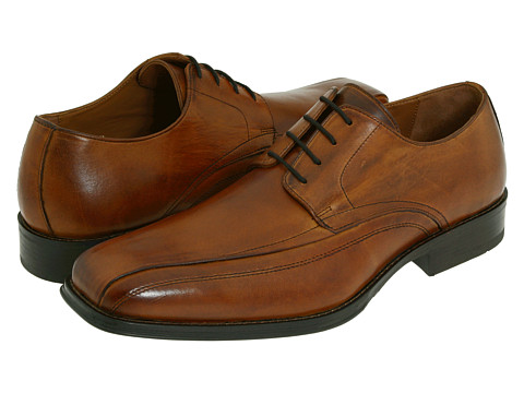 Pantofi Johnston & Murphy - Harding Panel Lace Up - Saddle Tan Italian Calfskin