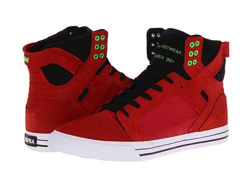 Adidasi Supra - Skytop - Red Snakeskin/Black/Lime