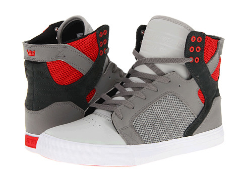 Adidasi Supra - Skytop - Battleship Armor/Athletic Red
