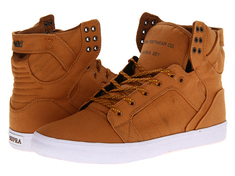 Adidasi Supra - Skytop - Golden Oak/Pumpkin/White