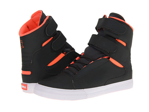 Adidasi Supra - TK Society - Charcoal Satin TUF/Neon Orange