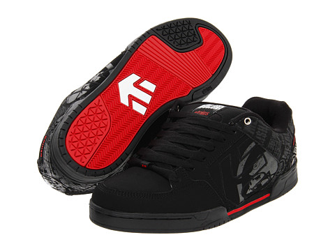Adidasi etnies - Charter x Metal Mulisha - Black/Red/Grey (Action Nubuck/Synthetic Nubuck)