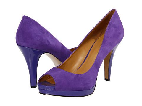 Pantofi Nine West - Danee - Purple Suede