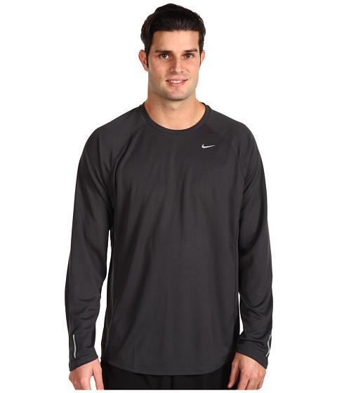 Bluze Nike - Nike L/S Miler UV - Anthracite/Anthracite/Reflective Silver