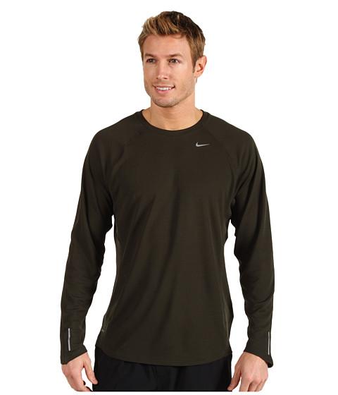 Bluze Nike - Nike L/S Miler UV - Sequoia/Sequoia/Reflective Silver