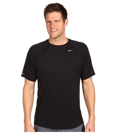 Tricouri Nike - Nike S/S Miler UV - Black/Black/Reflective Silver