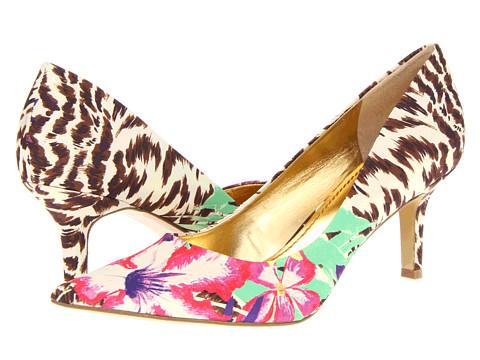 Pantofi Nine West - Austin - Brown Multi Tropic Cheetah Polycrepe
