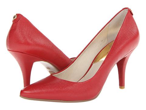 Pantofi Michael Kors - MK Flex Mid Pump - Red Saffiano