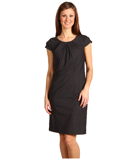 Rochii Anne Klein - Menswear Cap Sleeve Shift Dress - Black/White