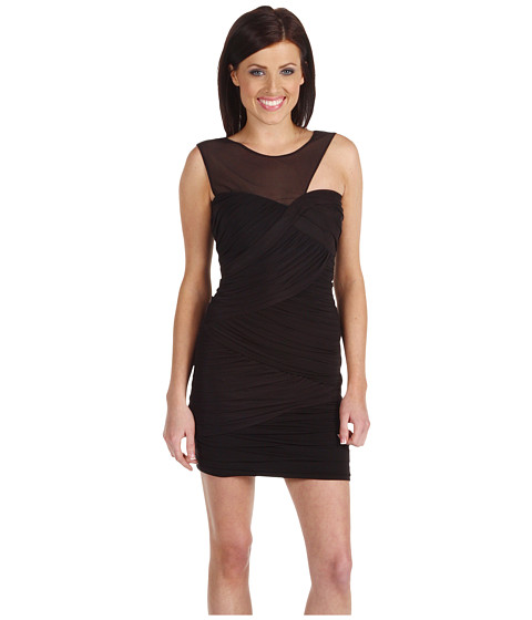 Rochii BCBGMAXAZRIA - Slinky Ruched Fitted Cocktail Dress - Black