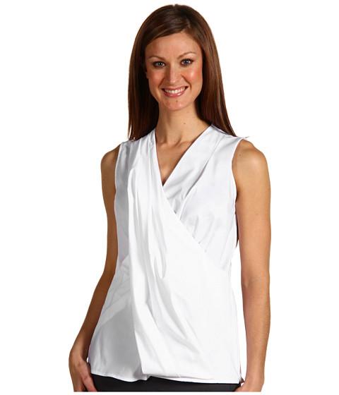 Bluze Anne Klein - Sleeveless Draped Neck Shirt - White
