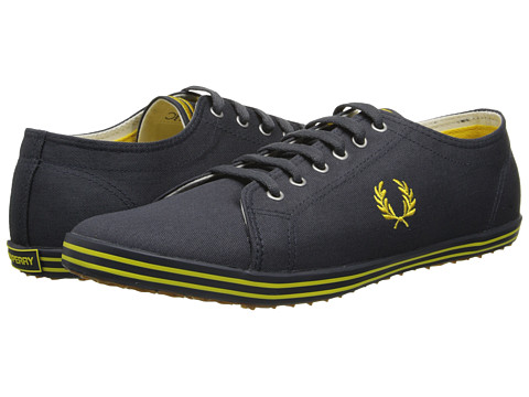 Adidasi Fred Perry - Kingston Twill - Charcoal/Bright Yellow