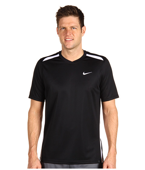 Tricouri Nike - Dri-FIT UV N.E.T. Tennis Shirt - Black/White/White
