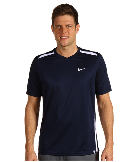 Tricouri Nike - Dri-FIT UV N.E.T. Tennis Shirt - Obsidian/White/White