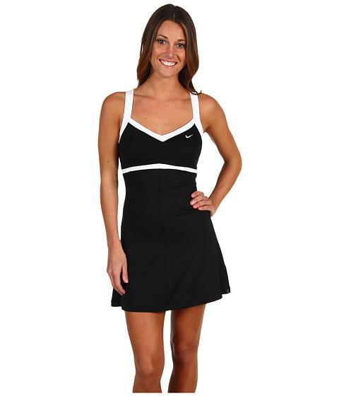 Rochii Nike - Border Tennis Dress - Black/White/White