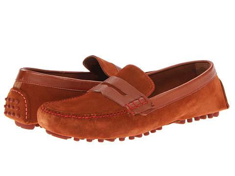 Pantofi Cole Haan - Air Grant Penny Loafer - Woodbury Suede/Woodbury Grain Brick