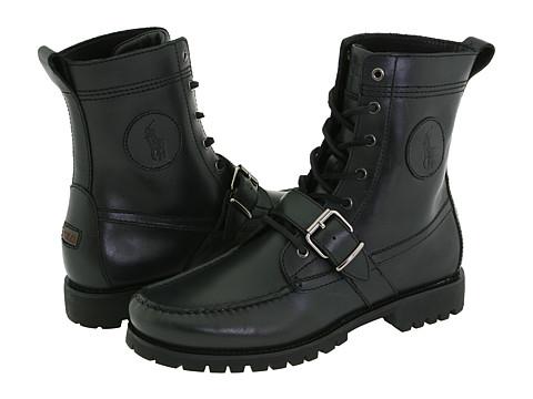Ghete Polo Ralph Lauren - Ranger - Black Leather