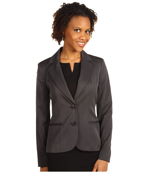 Jachete Anne Klein - Two Button Suit Jacket - Charcoal