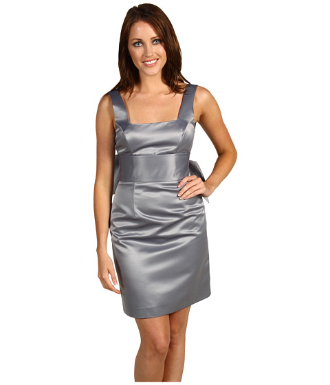 Rochii ABS Allen Schwartz - ABS Allen Schwartz Beaded Bow Back Dress - Pewter