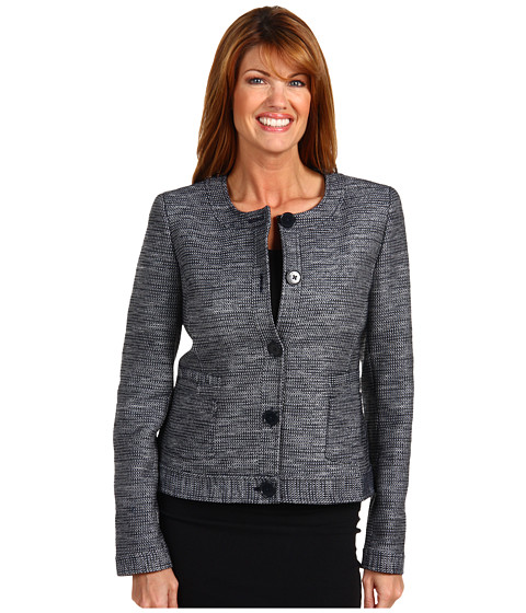 Sacouri Anne Klein - Jewel Neck Jacket - Midnight/Dark Blue Mist Combo