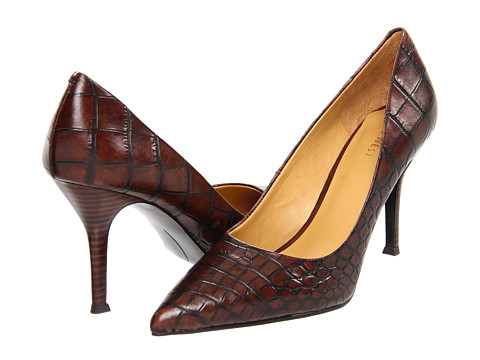 Pantofi Nine West - Flax - Brown Croc