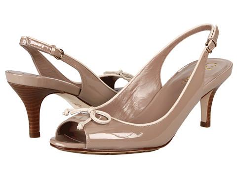 Sandale Cole Haan - Air Talia Open Toe Bow Slingback 60 - Maple Sugar Patent/Palomino