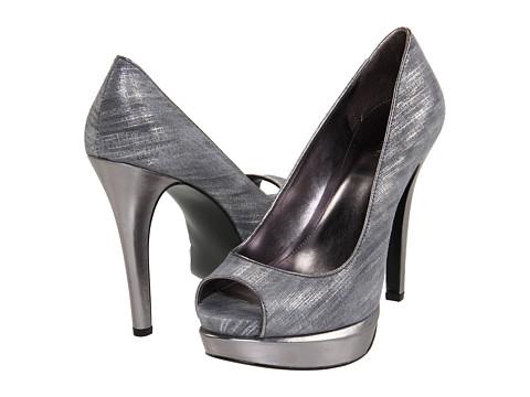 Pantofi Calvin Klein - Arielle - Gunmetal Metallic Scratch/Metallic Kid