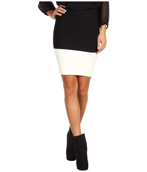 Fuste BCBGMAXAZRIA - Scarlett Colorblock Skirt - Black/Gardenia Combo