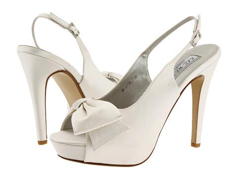 Pantofi Touch Ups - Cheri - White Silk Satin