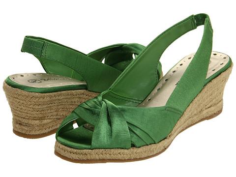 Sandale Bella-Vita - Sangria - Kelly Green Silk
