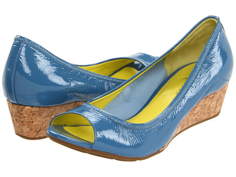 Pantofi Cole Haan - Air Tali OT Wedge 40 - Harbour Blue Patent/Cork