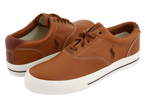 Adidasi Polo Ralph Lauren - Vaughn - Tan Soft Leather