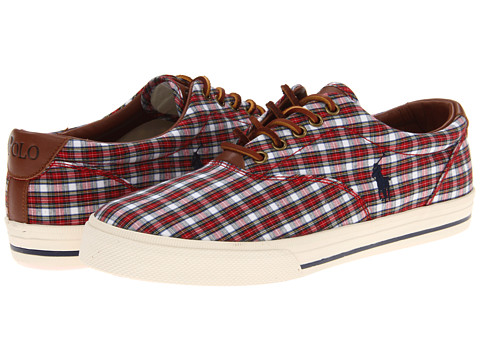 Adidasi Polo Ralph Lauren - Vaughn - Red/White Tartan