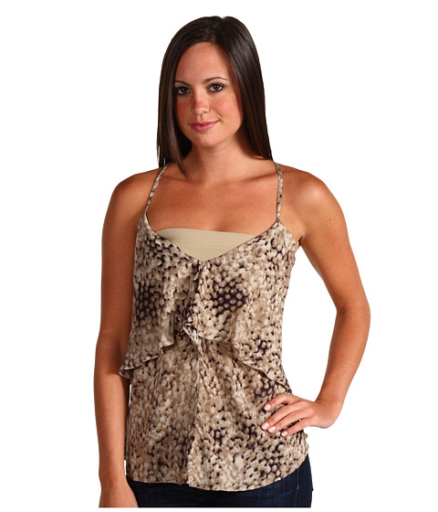 Tricouri Promiscuous - Aviva Sleeveless Top - Black/Beige Snake