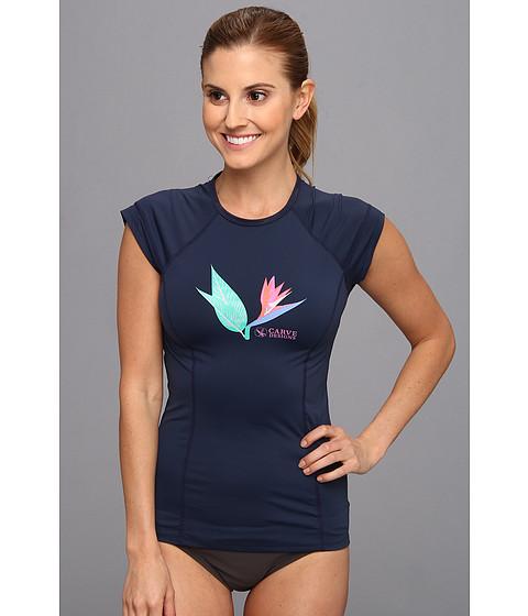 Costume de baie Carve Designs - Belles Beach Rash Guard - Indigo 02