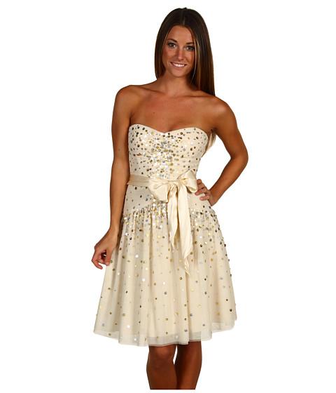 Rochii BCBGMAXAZRIA - Strapless Tulle Party Dress - Vanilla