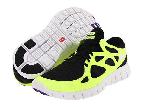 Adidasi Nike - Free Run+ 2 - Black/Volt/Varsity Purple/White
