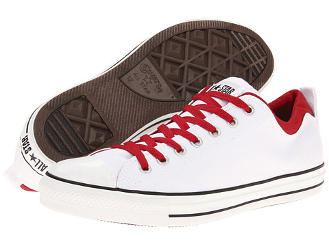 Adidasi Converse - Chuck Taylor® All Star® Dual Collar Ox - White/Jester Red