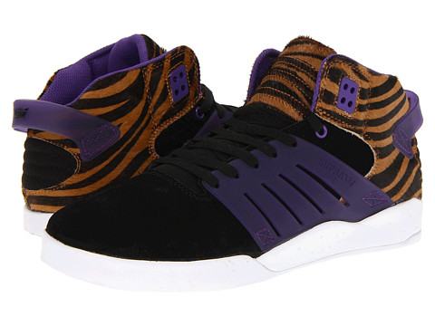 Adidasi Supra - Skytop III - Black/Purple/Tiger Pony Hair