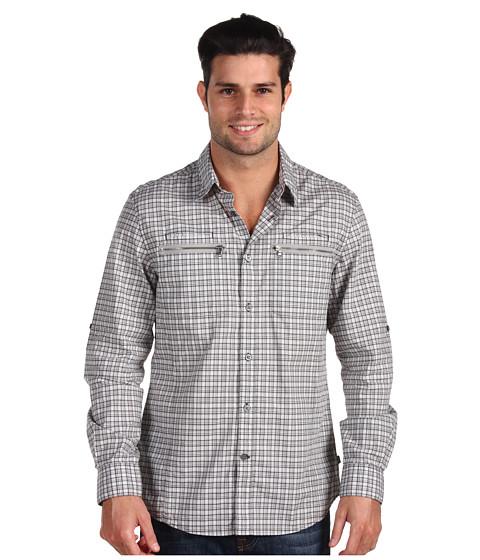 Camasi John Varvatos - Slim Fit Shirt With Zip L/S Woven - Flagstone