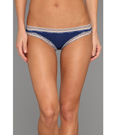 Lenjerie Calvin Klein - Perfectly Fit Signature Bikini w/ Lace - Star Gazer w/ Alabaster Lace
