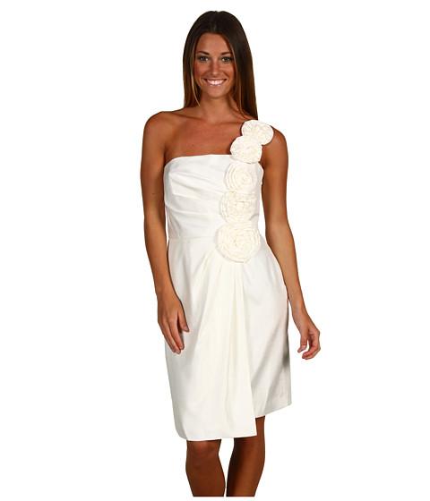 Rochii rsvp - Lillian-Rosette One Shoulder Faux Wrap - White
