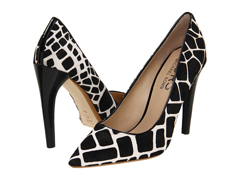 Pantofi Michael Kors - Elgin - Off-White/Black Giraffe Hair Calf