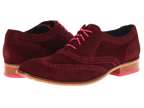 Pantofi Cole Haan - Air Colton Casual Wing Tip - Berry Suede