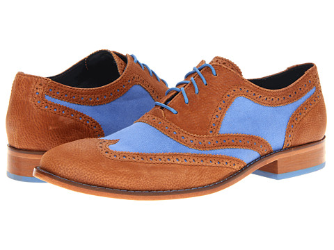Pantofi Cole Haan - Air Colton Casual Wing Tip - Charro/Topaz Canvas
