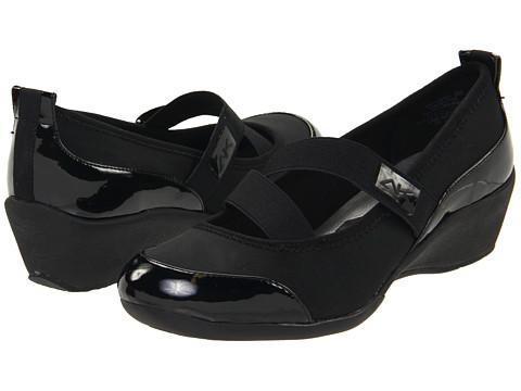 Pantofi Anne Klein - Bytheway - Black/Black Fabric